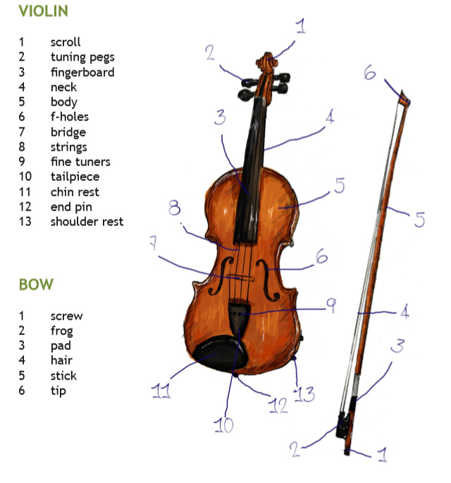 violin parts pizzicato.hr