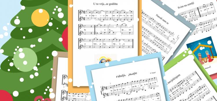 Najljepše božićne pjesme za dvije violine (ili druge instrumente)